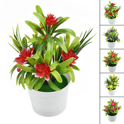 $ CDN8.52 • Buy Artificial Lotus Leaf Flower Plastic Plants Potted Fake Home Garden Party Decor