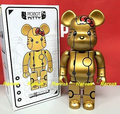 $197.99 • Buy Medicom Be@rbrick 2017 Action City Robot Hello Kitty Gold Ver. 400% Bearbrick