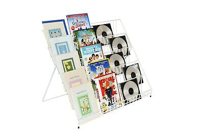 Five Tier White Counter Display Stand For Greeting Cards & General Products  • 19.99£