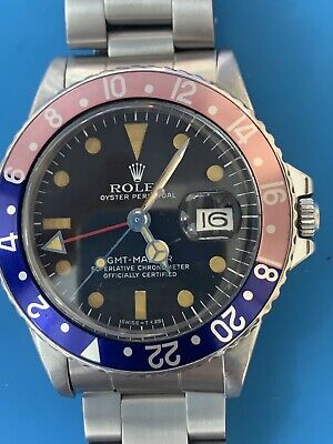 $ CDN22464.66 • Buy Rolex GMT-Master 1675 Vintage . Fucsia Insert . Incredible Patina . ( 291)