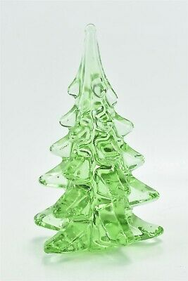 $ CDN20.95 • Buy Vintage SOLID GLASS GREEN CHRISTMAS TREE PAPERWEIGHT TABLE TOP DECORATION #00180