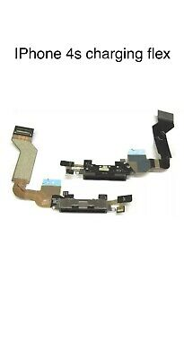 IPhone 4S Data SYNC Charging Block Port Dock Assembly Flex Cable With Mic Black • 0.99£