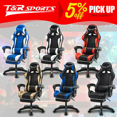 AU149.99 • Buy Mason Taylor Gaming Office Chair Home Computer Chairs Racing PVC Leather Seat