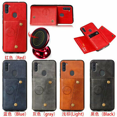 AU7.19 • Buy For Various Phone Hot Car Magnetic Stand Fashion Leather Card Wallet Case Cover