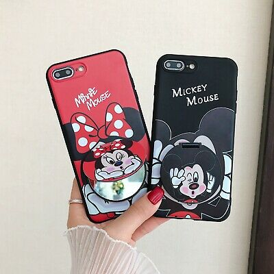 AU6.99 • Buy Classic Cute Cartoon Mirror Stand Hot Popular Soft Case Cover For Various Phone