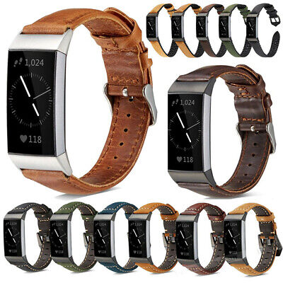 AU12.26 • Buy For Fitbit Charge 3 SE/4 Genuine Leather Watch Band Replacement Strap Wristband