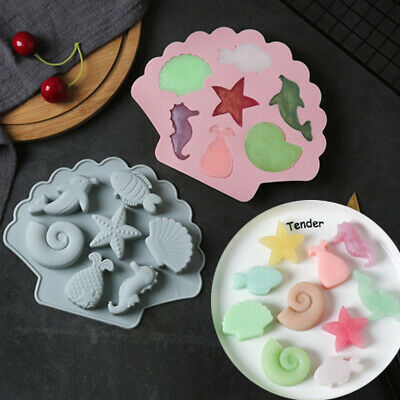 £3.09 • Buy Seashell Starfish Cake Jelly Cookies Soap Mold Chocolate Baking Candy Mould Tray
