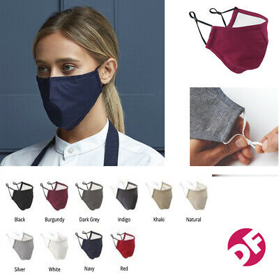 NEW Face Mask PPE Washable To 60c. Soft Feel 100% Cotton One Size Fits All • 4.99£