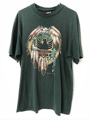 $ CDN75 • Buy Vintage 1992 3D Emblem Men XL TShirt American Biker Eagle Dream Catcher Colorado