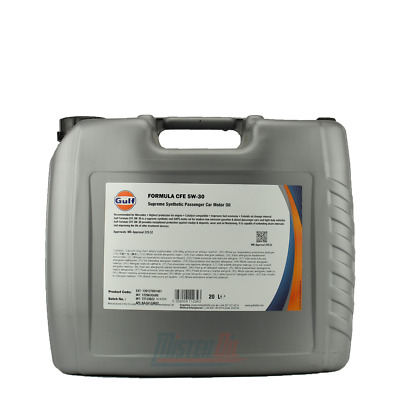 Gulf CFE 5W30 Supreme Synthetic Engine Oil ACEA C2 C3 / MB 229.52 Litre 20L • 42.95£