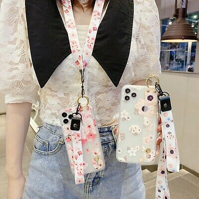 AU7.99 • Buy Fashion Hot Lanyard Frosted Flower Wristband Stand Case Cover For Various Phone