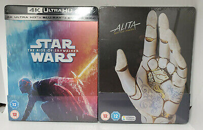 AU154.74 • Buy Star Wars: Rise Of Skywalker 4K + Alita Battle Angel 4K+3D+Blu-ray 2x STEELBOOKS