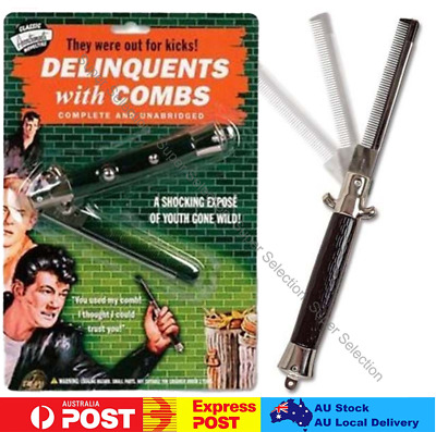 AU15 • Buy SWITCHBLADE Grease 50s Switch Blade Knife Flick Comb Rock Roll Costume Accessory