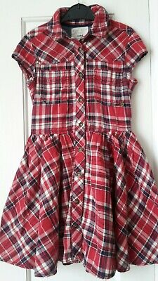 **** Girls M&s Red Check Dress Age 6-7  • 2.99£