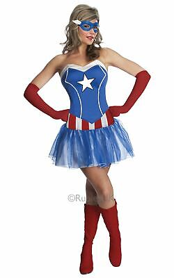 Womens Marvel Miss American Dream Costume • 32.79£