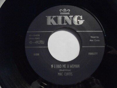 Repro MAC CURTIS Rockabilly 45 - If I Had Me A Woman  FREE POSTAGE           • 8.50£
