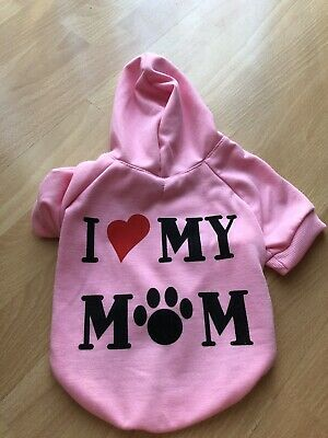 Cute Small Dog Hoodie Pink New  • 5.99£