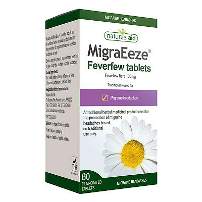 £8.93 • Buy Natures Aid MigraEeze Feverfew 100mg - 60 Tablets