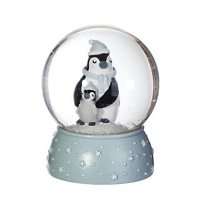 Mum And Baby Penguin Snow Globe By Sass And Belle Christmas Decoration • 12.95£
