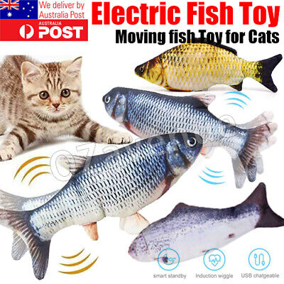 AU5.99 • Buy 12   USB Electric Interactive Cat Toy Wagging Fish Realistic Plush Catnip Mint