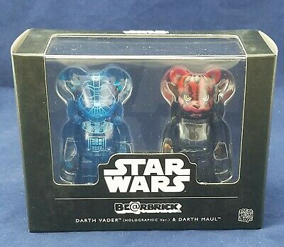 $59.99 • Buy Medicom Bearbrick Star Wars Holographic Darth Vader And Darth Maul Be@rbrick Set