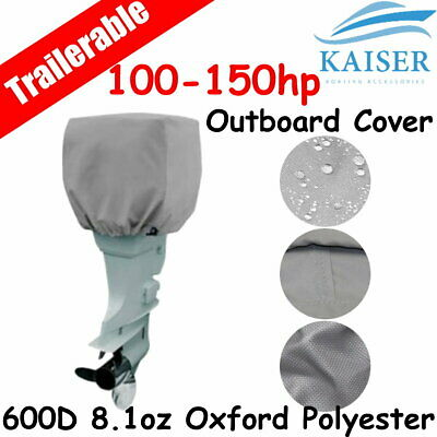 AU33.95 • Buy 100-150hp Half Outboard Boat Motor Engine Cover Dust Rain Protection Grey