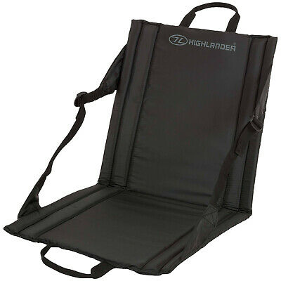 £11.90 • Buy OUTDOOR WATERPROOF SEAT Back Support Black Camping Fishing Picnic Beach Chair