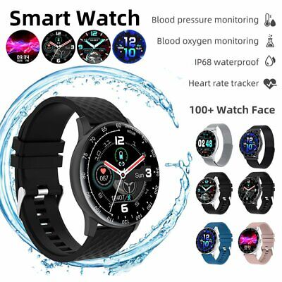 AU46.99 • Buy Smart Watch Android Blood Oxygen Pressure Heart Rate Fitness Tracker For IPhone