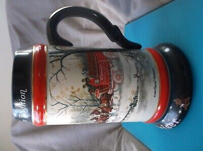 $ CDN46.24 • Buy BUDWEISER  MUG Clydesdales Pulling Vintage Wagon/Reads: AN AMERICAN TRADITION