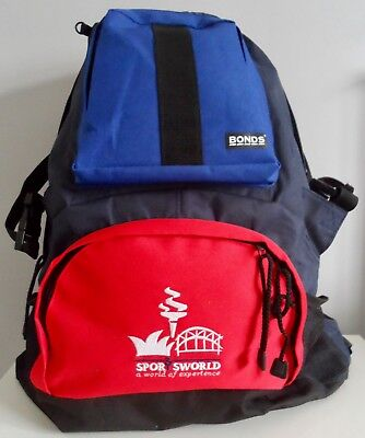 RARE  Blue/ Red BONDS Backpack/Rucksack SYDNEY 2000 OLYMPIC SPORTS WORLD - NEW # • 9£