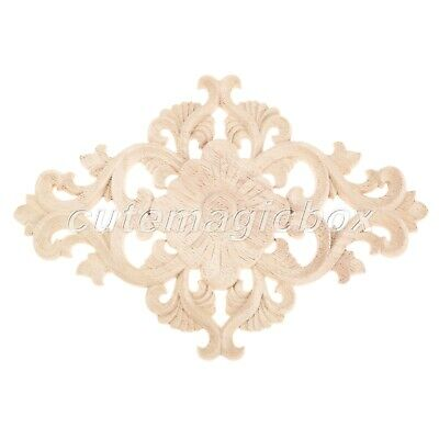 AU6.15 • Buy Wood Carved Woodcarving Corner Onlay Applique Frame Furniture Exquisite Decor