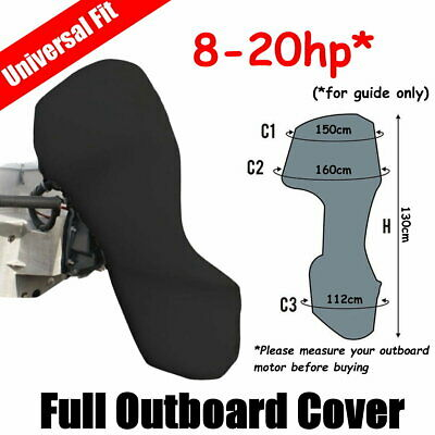 AU37 • Buy 8-20hp Full Outboard Boat Motor Engine Cover Dust Rain Protection Black