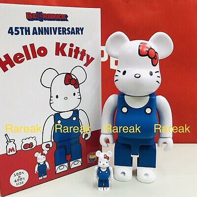 $265.99 • Buy Medicom Be@rbrick Sanrio Hello Kitty 45th Anni. 400% & 100% 70's Milky Bearbrick