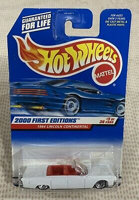 $10000 • Buy Hot Wheels 2000 First Edition 1964 Lincoln Continental Convertible New N Package