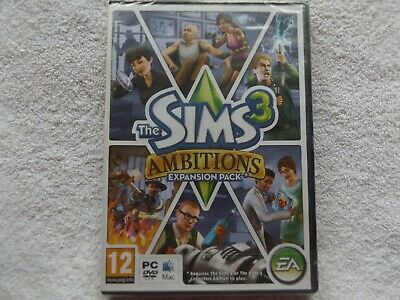 THE SIMS 3 AMBITIONS EXPANSION PACK PC/MAC DVD ( Brand New & Sealed ) • 24.99£