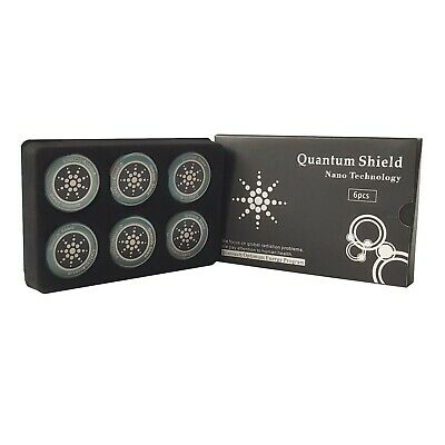EMF Quantum Anti Radiation Stickers, Mobile Phone,laptop,tablet X6 Pack • 4.49£