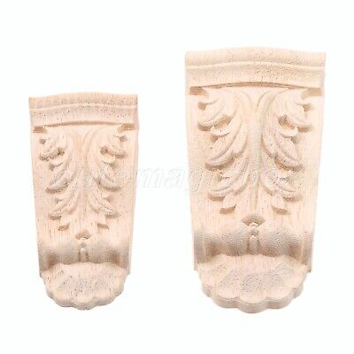 AU5.88 • Buy Wooden Woodcarved Corbels Decal Corner Applique Woodcarving Furniture Home Decor