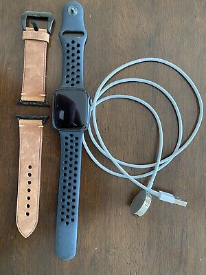 $ CDN307.90 • Buy Apple Watch Series 4 Nike 44mm Space Gray Aluminum Case Cellular GPS