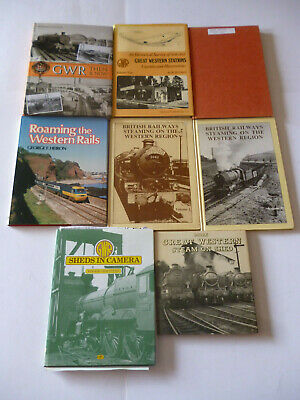 Lot X 8 GWR Great Western Railways - Collectable Historical Hardback Books • 45£