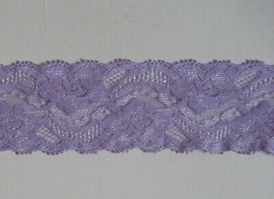 $ CDN2.65 • Buy CRAFT-SEWING-ELASTIC 2.75mtrs X 45mm Lavender Stretch Lace