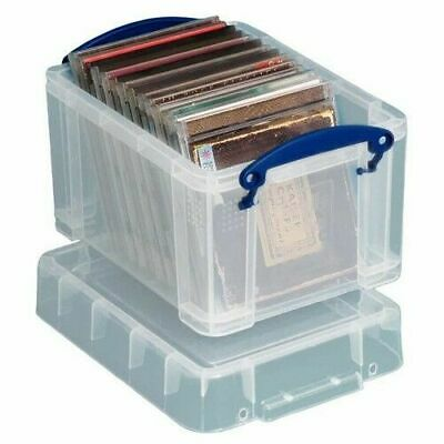 Really Useful Strong Clear Plastic 3 Litre CD / DVD  STORAGE BOX • 7.99£