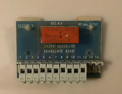 £12.99 • Buy Silent Gliss Electric Curtain/Blind Relay Board Used Tested Operational Free PnP