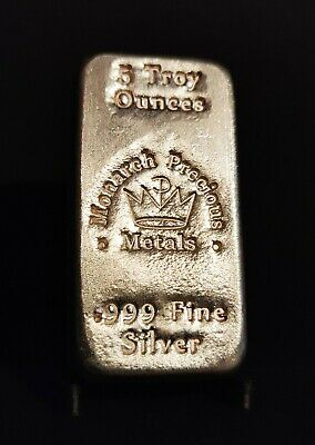 $ CDN215 • Buy Monarch Precious Metals 5 Troy OZ Silver Bar