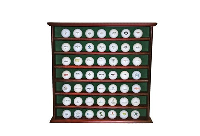 Golf Ball Display Cabinet Holds 49 Balls Wall Mountable Collector Sport Fan  • 54.99£