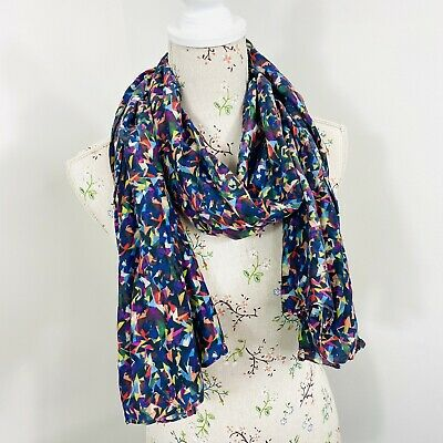 AU45 • Buy Gorman Womens Scarf Colourful Bright Abstract Print Cotton