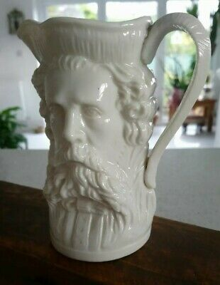 A Fine Victorian Two / Double / Twin Faced Character Jug - Man With Beard • 22£
