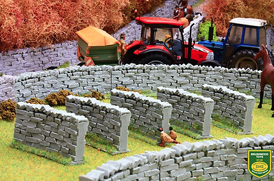 Brushwood Toys Bt3020 1:32 Scale Authentic Curved Stone Wall Sections  • 13.99£
