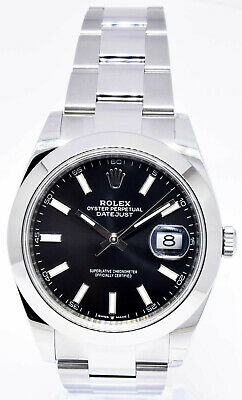 $ CDN12381.66 • Buy Rolex NEW Datejust 41 Steel Black Dial Oyster Bracelet Watch Box/Papers 126300