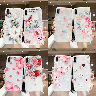 AU5.96 • Buy Hot New Fashion Women Girl Frosted Flower Silicone Phone Case Cover  For Samsung