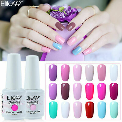 Elite99 Soak Off Colour Gel Nail Polish Top Base Coat UV LED Manicure Varnish • 2.89£